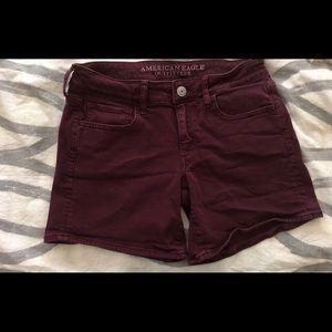 Maroon Midi Shorts